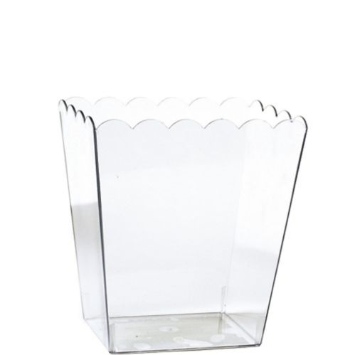 Small CLEAR Plastic Scalloped Container