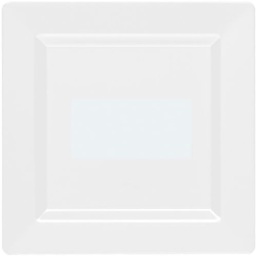 Premium Plastic Square Lunch Plates, 10-pk