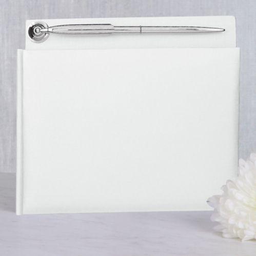 Livre d'invités avec stylo, blanc nacré Image de l'article