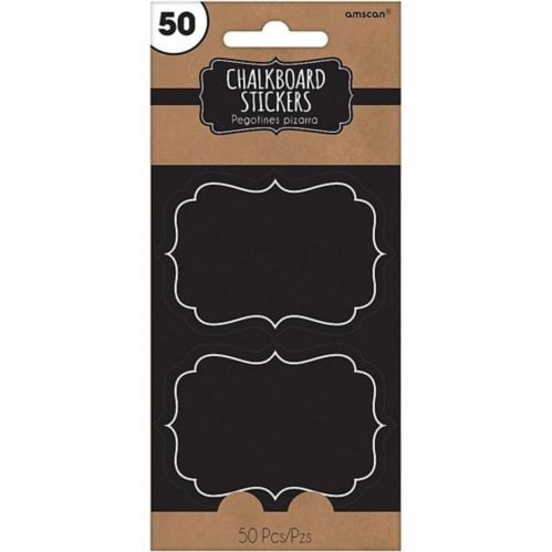 Chalkboard Stickers, 50-pk
