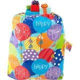 Sac-cadeau d'anniversaire décoré de ballons colorés
