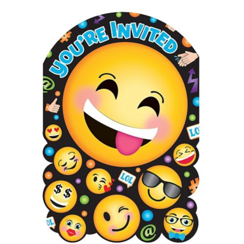 Smiley Invitations, 8-pk