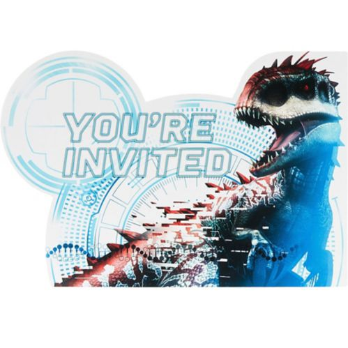 Jurassic World Invitations, 8-pk