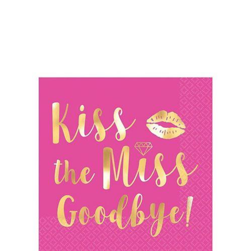 Serviettes pour boissons Kiss The Miss Goodbye, paq. 16