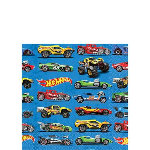 Serviettes pour boissons Hot Wheels, paq. 16