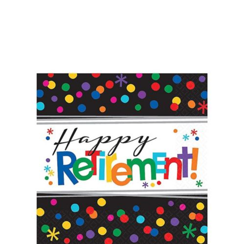 Happy Retirement Celebration Beverage Napkins, 16-pk
