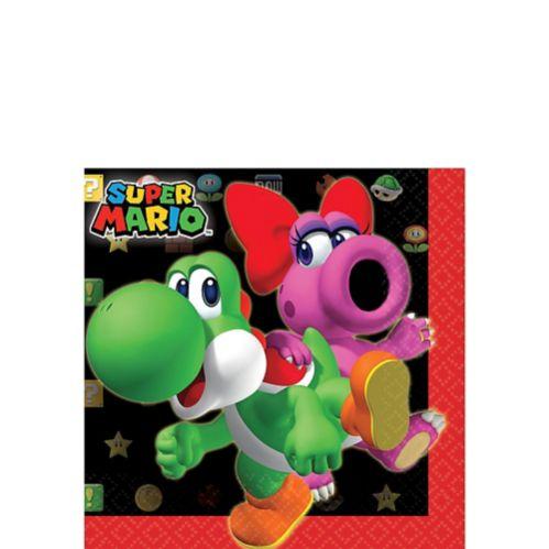 Serviettes pour boissons Super Mario, paq. 16
