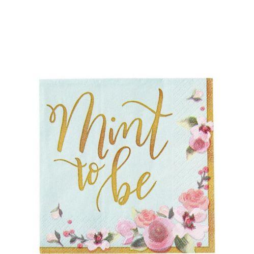 Mint to Be Floral Beverage Napkins, 16-pk