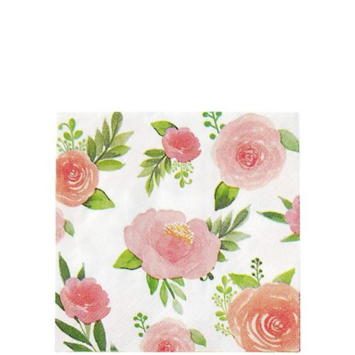 Floral Baby Beverage Napkins, 16-pk
