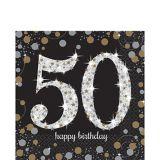 Sparkling Celebration 50th Birthday Lunch Napkins, 16-pk