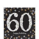 Sparkling Celebration 60th Birthday Lunch Napkins, 16-pk