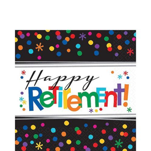 Happy Retirement Celebration Lunch Napkins, 16-pk