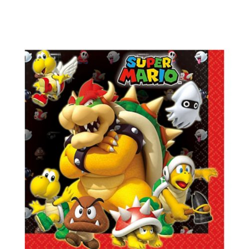 Super Mario Lunch Napkins, 16-pk
