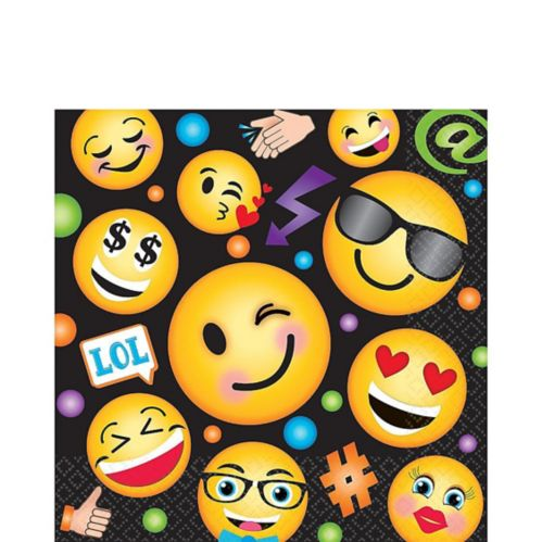 Smiley Lunch Napkins, 16-pk
