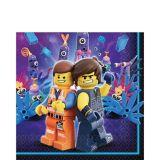 Serviettes de table La Grande Aventure Lego 2, paq. 16 | Legonull