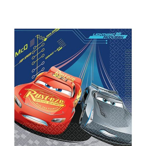 Cars 3 Lunch Napkins, 16-pk