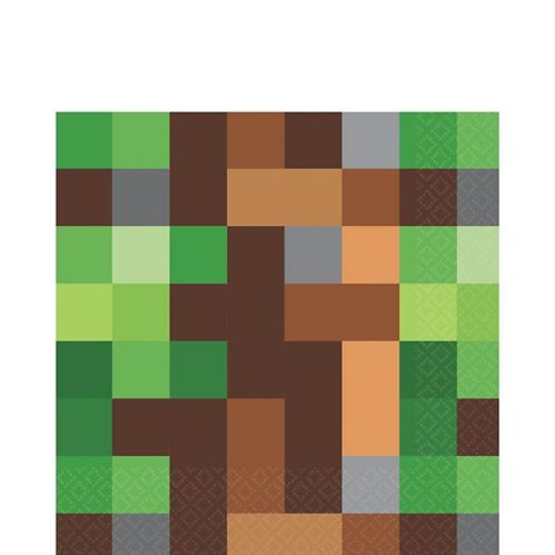 Pixelated Lunch Napkins, 16-pk