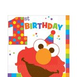 1st Birthday Elmo Lunch Napkins, 16-pk