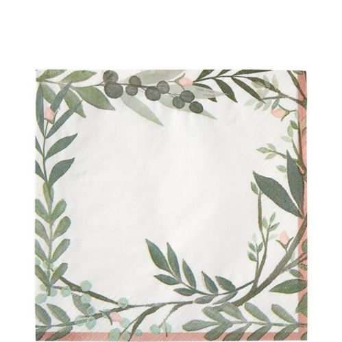 Floral Greenery Lunch Napkins, 16-pk