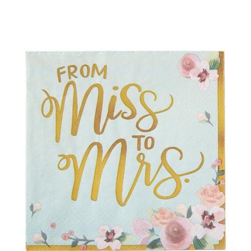 Serviettes de table à motif floral Mint to Be, paq. 16