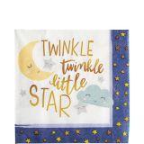 Twinkle Twinkle Little Star Lunch Napkins, 16-pk