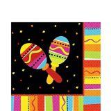 Serviettes de table festives aux couleurs vives, paq. 16