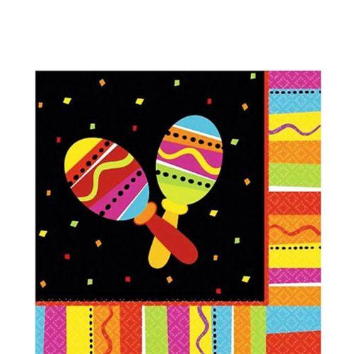 Serviettes de table festives aux couleurs vives, paq. 16 Image de l'article