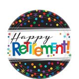 Happy Retirement Celebration Dessert Plates, 8-pk