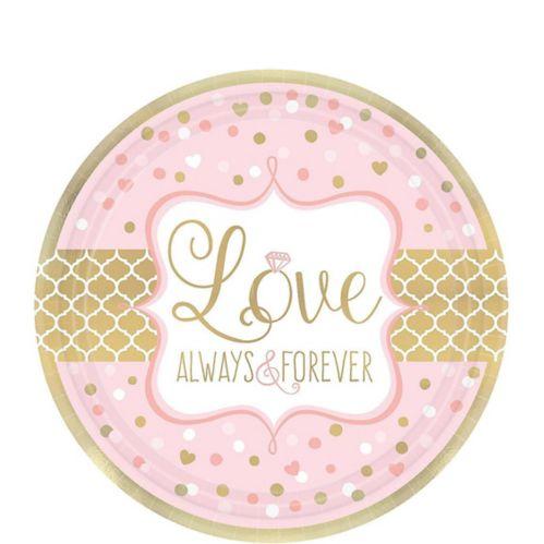 Sparkling Pink Wedding Dessert Plates, 8-pk