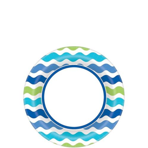 Cool Wavy Stripes Dessert Plates, 40-pk Product image