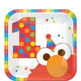 1st Birthday Elmo Dessert Plates, 8-pk