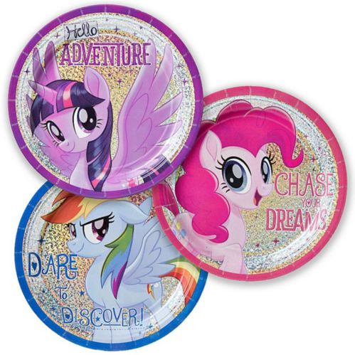 Prismatic Friendship Adventures My Little Pony Dessert Plates, 8-pk