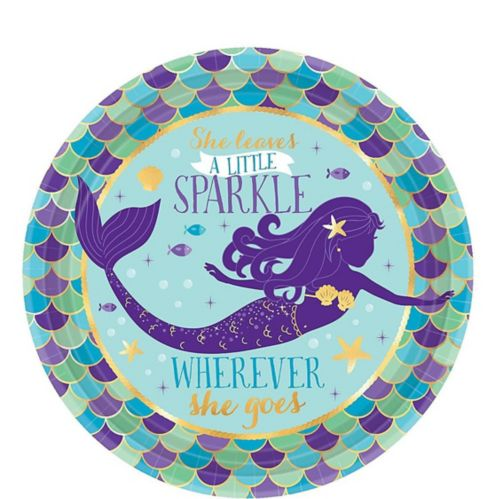 Wishful Mermaid Dessert Plates, 8-pk