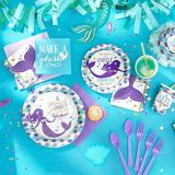 Wishful Mermaid Dessert Plates, 8-pk | Amscannull