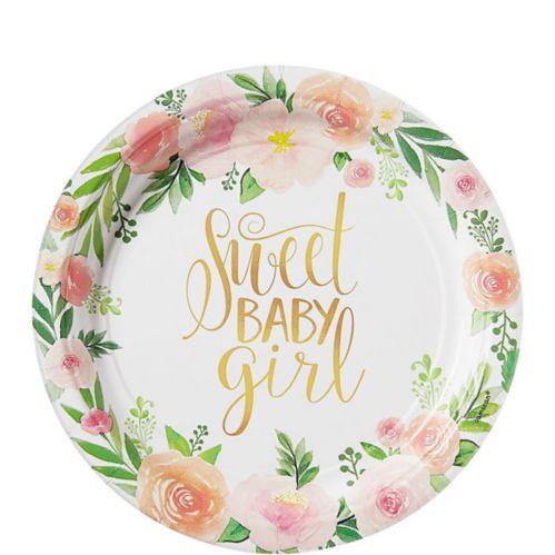 Floral Baby Dessert Plates, 8-pk