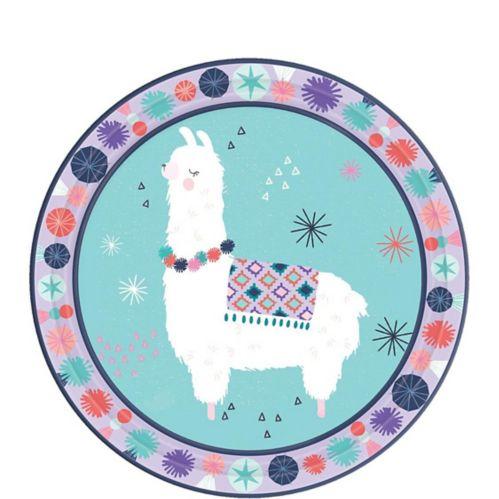 Llama Fun Dessert Plates, 8-pk