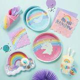 Assiettes à dessert iridescentes aux couleurs de l'arc-en-ciel, paq. 8