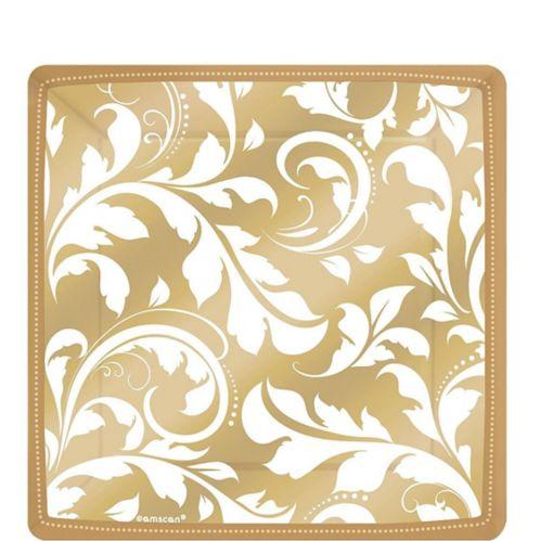 Golden Wedding Dessert Plates, 8-pk