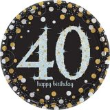 Sparkling Celebration Prismatic 40th Birthday Lunch Plates, 8-pk