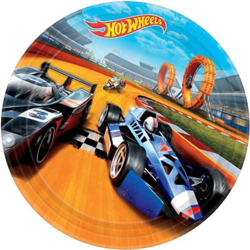 Hot Wheels Lunch Plates, 8-pk