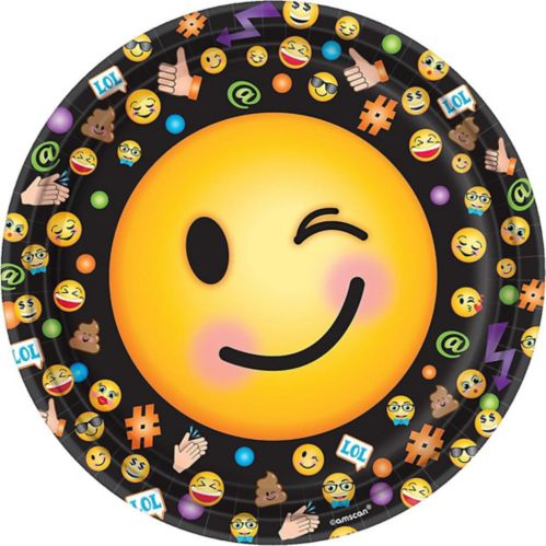Smiley Lunch Plates, 8-pk