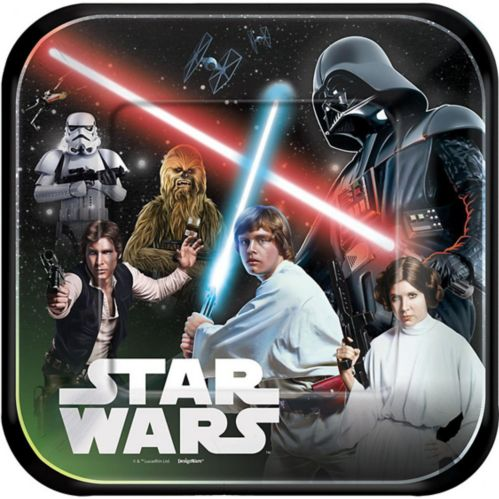 Star Wars Lunch Plates, 8-pk