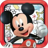 Mickey Mouse Lunch Plates, 8-pk
