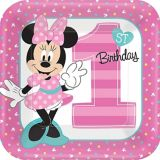 1st Birthday Minnie Mouse Lunch Plates, 8-pk | Disneynull