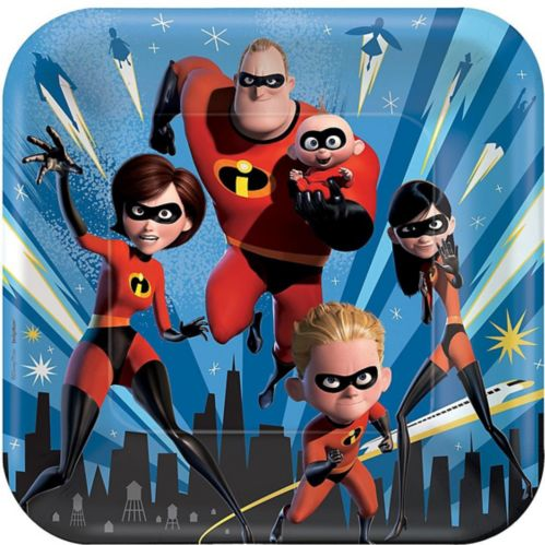 Incredibles 2 Lunch Plates, 8-pk