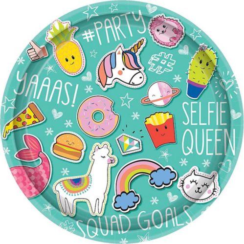 Selfie Celebration Lunch Plates, 8-pk