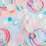 Assiettes à déjeuner licorne arc-en-ciel magique iridescentes, paq. 8 | Amscannull