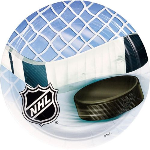 NHL Ice Time Lunch Plates, 8-pk