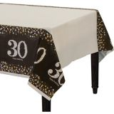 Sparkling Celebration 30th Birthday Table Cover