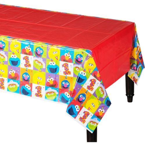 1st Birthday Elmo Table Cover